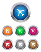 Airplane buttons — Stock Vector