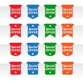Special offer paper tag labels — Stock Vector