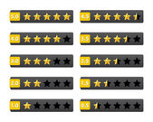 Rating stars buttons — Stock Vector