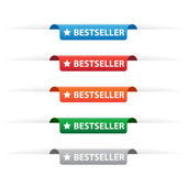 Bestseller paper tag labels — Stock Vector