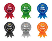 Bestseller labels — Stockvector