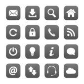 Grey web buttons — Stock Vector