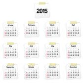 Calendar 2015 on reminders — Stock Vector
