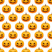 Pumpkins seamless background — Stock Vector