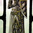 Bonawit Stained Glass Medieval Knight Praying Yale University St — Stock Photo