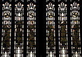 Bonawit Stained Glass Medieval Figures Yale University Sterling — Stockfoto