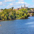 Key Bridge Georgetown University Washington DC Potomac River - Stock Photo