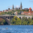 Key Bridge Georgetown University Washington DC Potomac River — Stock Photo #13748513
