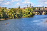 Università de georgetown chiave ponte fiume potomac di washington dc — Foto Stock