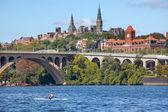 Key Bridge Georgetown University Washington DC Potomac River — Stock Photo