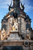 Columbus Monument Victory Statute Barcelona Spain — Stock Photo