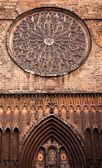 Už vzrostl mozaikové okno st maria del pi, saint mary — Stock fotografie