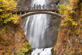 Multnomah Falls Waterfall Columbia River Gorge Oregon Pacific No — Stock Photo
