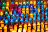 Prayer Candles Monastery of Montserrat — Stock Photo