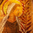 Stock Photo: Angel Palm Frond Mosaic Monastery Montserrat