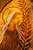 Angel Palm Frond Mosaic Monastery Montserrat — Stock Photo