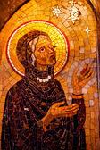Vecchio mosaico di maria all'interno della basilica monestir monastero di montserrat — Foto Stock