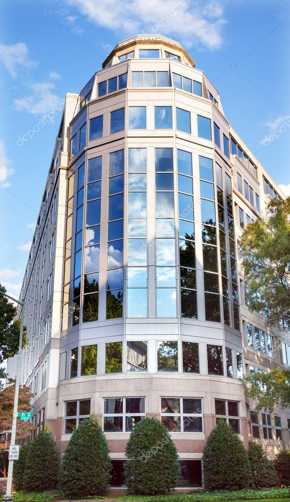US International Trade Commission ITC in Washington DC.  US ITC is a US Trade independent agency in Washington DC and makes injury determinations in antidumping and other trade cases. — Foto de Stock   #18479945