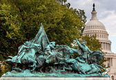 Calvary Charge US Grant Statue Civil War Memorial Capitol Hill W — Stock Photo