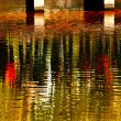Stock Photo: Reflection Abstract Gold Fish Bridge West Lake Hangzhou Zhejiang