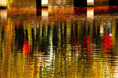 Reflection Abstract Gold Fish Bridge West Lake Hangzhou Zhejiang — Stock Photo