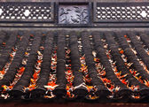 Ancient Chinese House Roof Birds Designs Autumn Leaves West Lake — Stock Photo