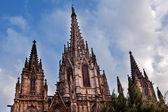 天主教的哥特式大教堂西班牙加泰罗尼亚巴塞罗那 — 图库照片