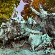 Union Calvary Horses Charging US Grant Statue Memorial Capitol H — Stock Photo
