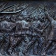 Union Soldiers Charging US Grant Statue Memorial Capitol Hill Wa — Stock Photo