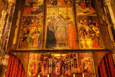 Coro pintado empata christ cana discípulos gótica católica barcel — Fotografia Stock