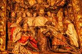 Sculpted Wooden Altarpiece Mercedarian Order Catholic Basilica B — Stock Photo