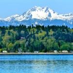 Bainbridge island puget sound mount olympus sneeuw berg olympi — Stockfoto #24744085