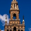 Giralda Bell Tower Cathedral of Saint Mary of the See Spire Weat - Stock Photo