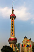 Shanghai TV Tower Hotels Pudong Shanghai China — Stock Photo