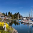 Stock Photo: Bainbridge Island Harbor Puget Sound Washington State
