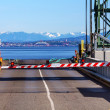 Stock Photo: Bainbridge Island Ferry Dock Gate Puget Sound Seattle Cascade Mo