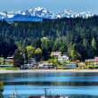 Poulsbo Bainbridge Island Puget Sound Snow Mountains Olympic Nat — Stock Photo