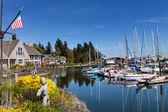 Bainbridge Island Harbor Puget Sound Washington State — Stock Photo