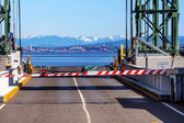 Bainbridge Island Ferry Dock Gate Puget Sound Seattle Cascade Mo — Stock Photo