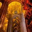 Stone Columns Stained Glass Cathedral of Saint Mary of the See S — Stock Photo