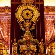 Golden Paseo Madonna Statue Cathedral of Saint Mary of the See S — Stock Photo