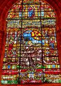 Saint francis glasmalerei kathedrale der heiligen maria von der see-s — Stockfoto