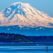 Stock Photo: Mount Rainier Puget Sound North Seattle Snow Mountain Washington