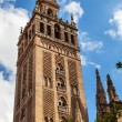 Stock Photo: GiraldBell Tower Cathedral of Saint Mary of See Spire Weat