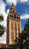 Giralda Bell Tower Cathedral of Saint Mary of the See Spire Weat — Stock Photo
