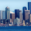Stock Photo: Seattle Skyline Puget Sound Cascade Mountains Washington
