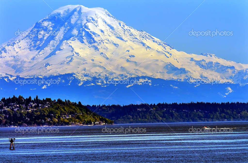 Mount rainier puget sound nord montagna neve seattle for Piani di washington