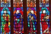 Učedníci vitráží katedrála svaté marie viz sevil — Stock fotografie