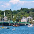 Stock Photo: Padnaram Bridge and Harbor with Boats Piers Dartmouth Massachuse