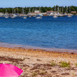 Stock Photo: Beach Padnaram Harbor with Boats Schooner Piers Dartmouth Massac